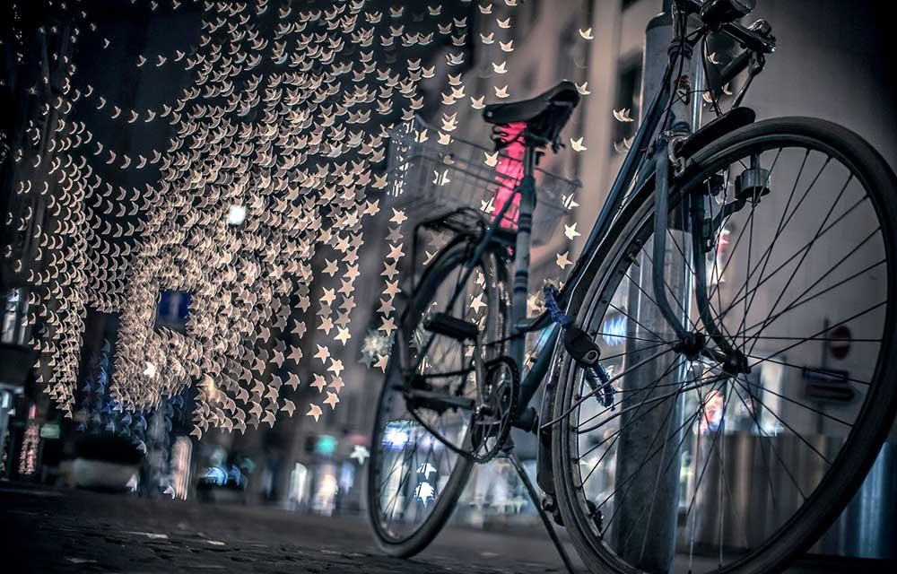 Велосипед ночью